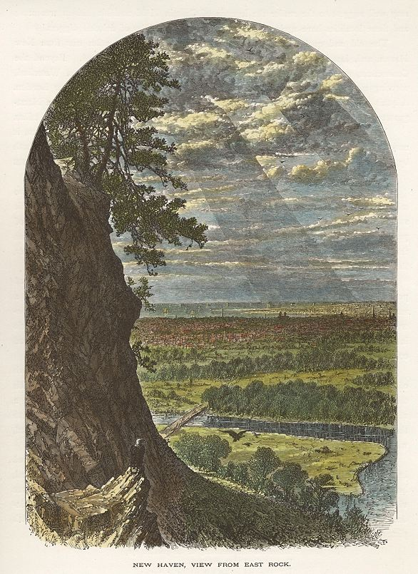 East Rock engraving bryant 1872