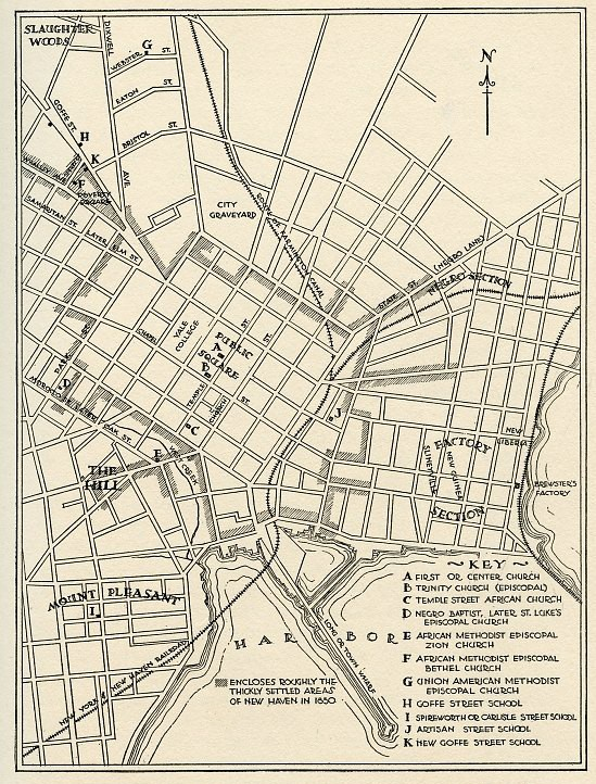 Reference Map of New Haven 1810-1850