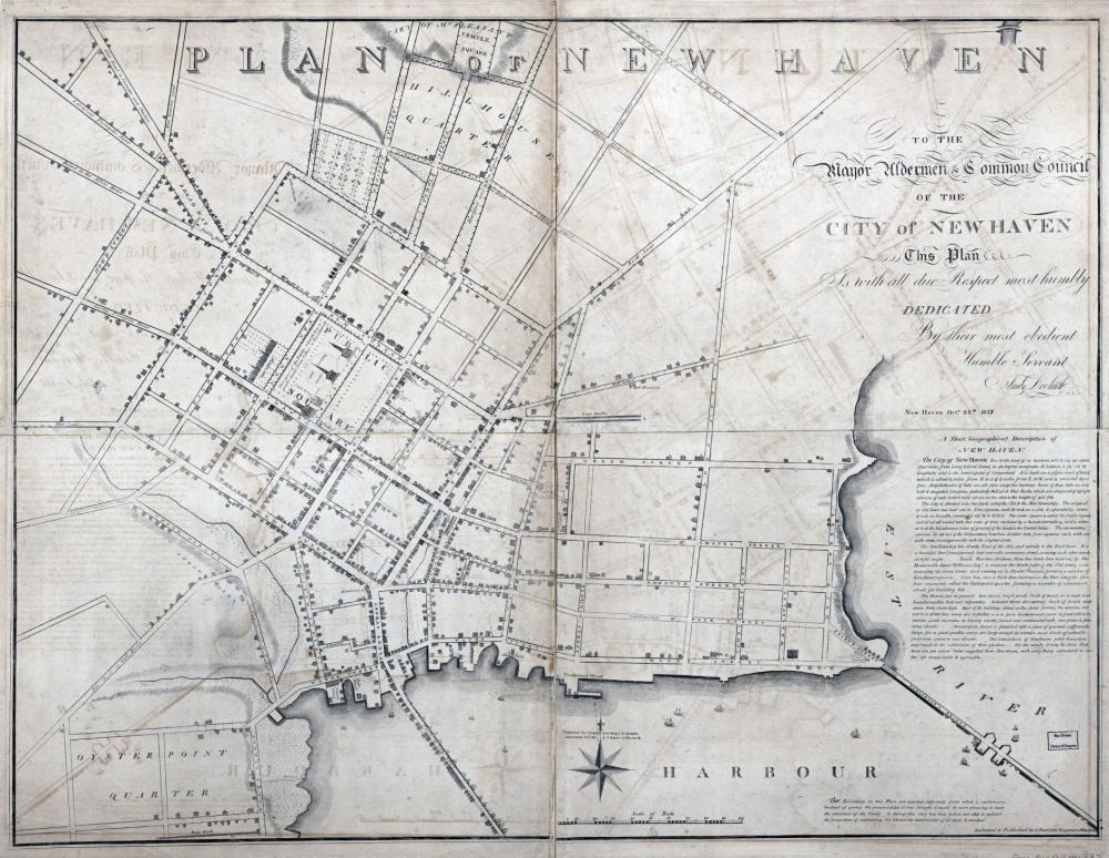 Doolittle Map New Haven 1817
