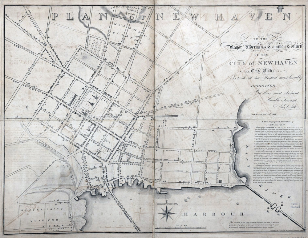 Doolittle Map New Haven 1817