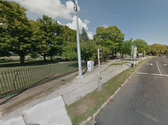Potential area for a cycle track along Davenport Avenue