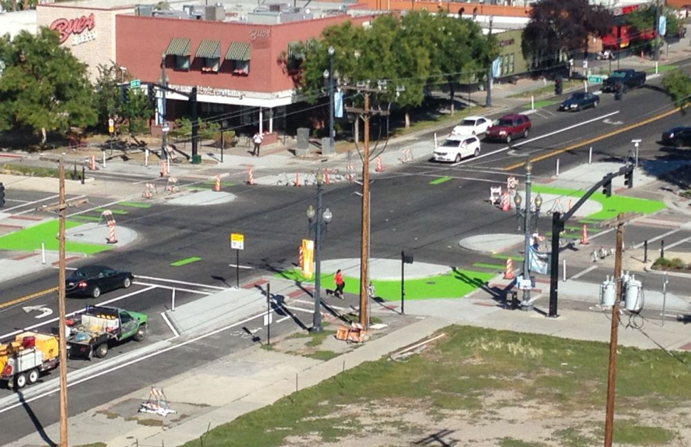 salt lake city protected intersection