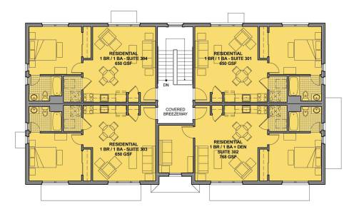 Figure 21b. Upper Floor Plan