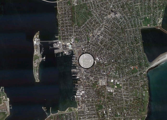Aerial View of Queen Anne Square (Google Earth, 2012)