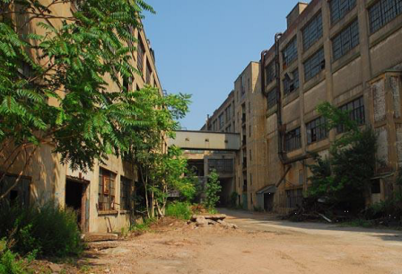 Figure 3. Photo of the entry to the Winchester Repeating Arms Company factory complex from 2010 (New Haven Register)