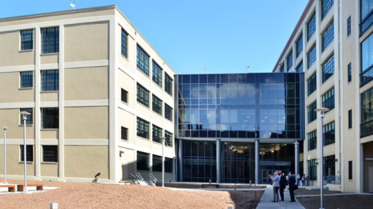 Figure 4. View of the entry to Higher One's headquarters in March of 2012 (Yale News)