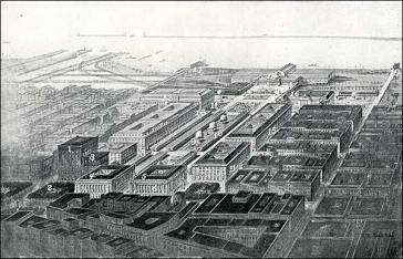 Figure 32. Aerial view of the Cleveland Group plan of 1903 (D.H. Ellison)