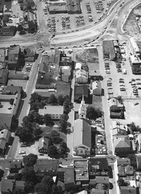 Future Location of Queen Anne Square, pre-1975 (NewportRI.com)