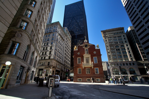Figure 24. Contemporary view of Boston's Old State House;, Brazer Building to the far left (Tony Ang)