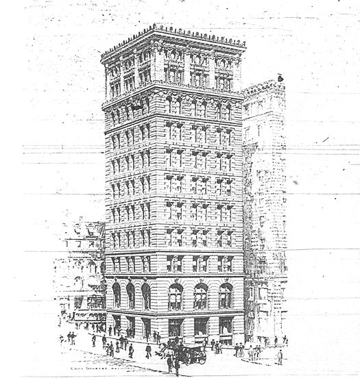 Figure 2. Drawing of the Brazer Building (Cass Gilbert Society)