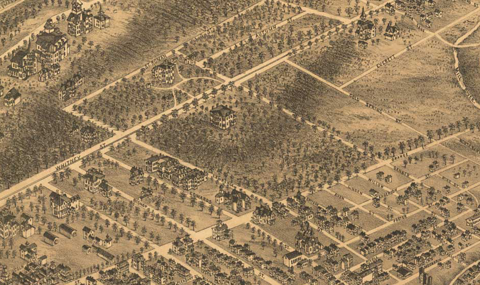 Edgerton Aerial View 1879