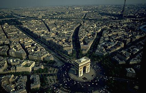 Figure 15. Contemporary aerial view around Arc de Triomphe (Art History Archive)