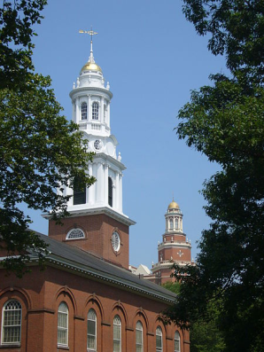 Figure 26. Contemporary view of Downtown New Haven looking past United Church to the Union Trust Companybuilding6