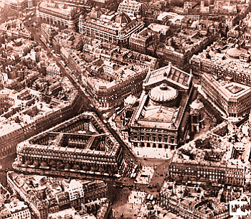 Aerial view of the Paris Opera