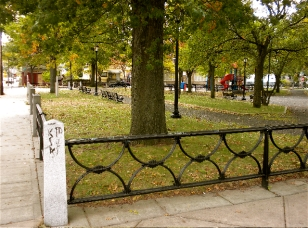Unified Fencing around Trowbridge Square