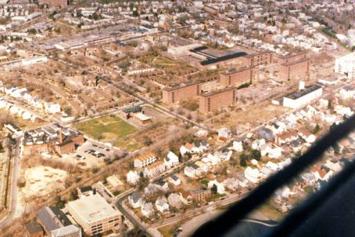 Aerial view of Elm Haven, 1990 (HNHDC)
