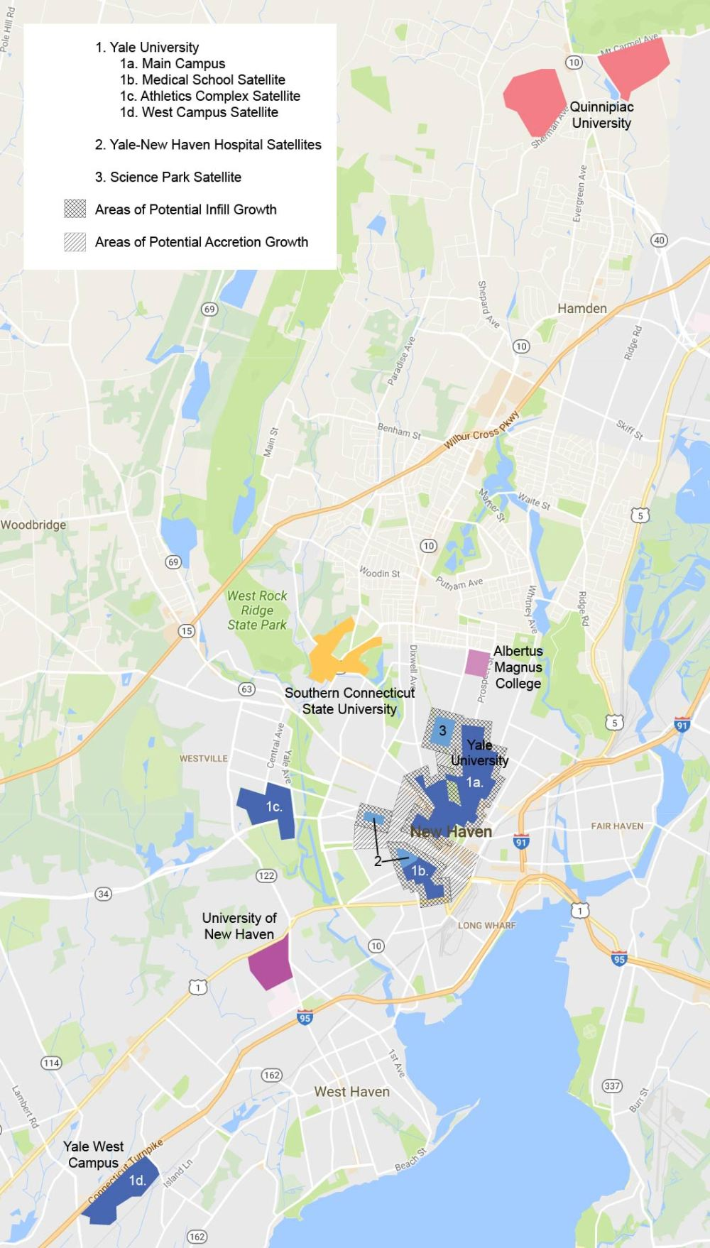 Universities around New Haven Map-01