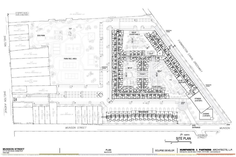 201 Munson Street Site Plan